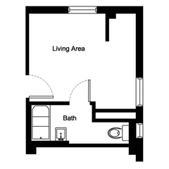 Floorplan: The Ibis. Studio