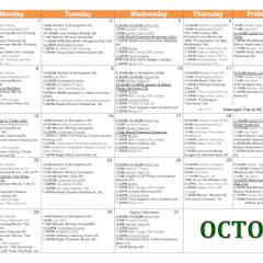 Sample Calendar - October 2018